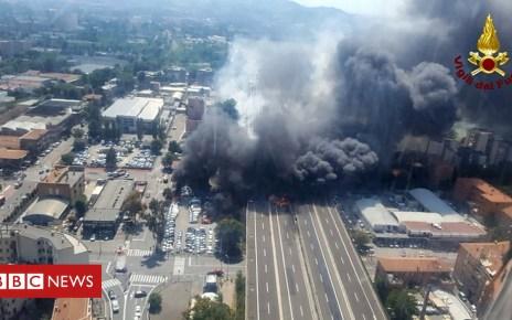 102849314 048524310 1 - Bologna crash: Tanker truck fireball kills two and injures dozens