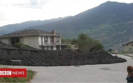102887265 p06gyp4y - Mudslide erupts in Swiss village