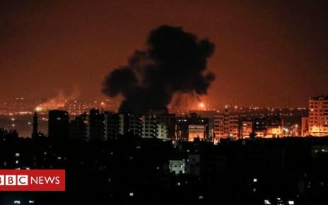 102888457 afp - Israeli air strikes 'kill pregnant woman and baby'