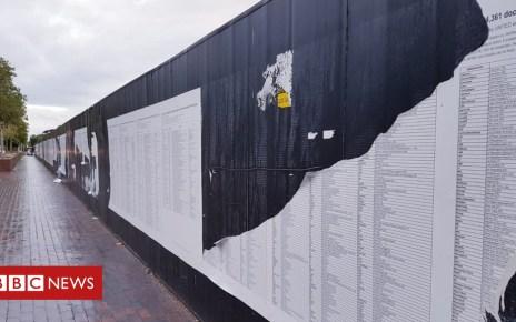 102983642 thelistdefacedrhiannejones - Liverpool refugee art memorial torn down again