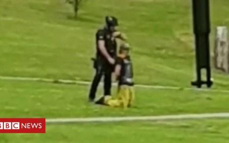 103043356 p06hn9pn - Armed police tackle man waving a gun in a Swansea park