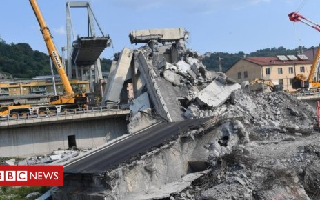 103079796 mediaitem103079793 - Italy bridge collapse: Genoa death toll rises to 43
