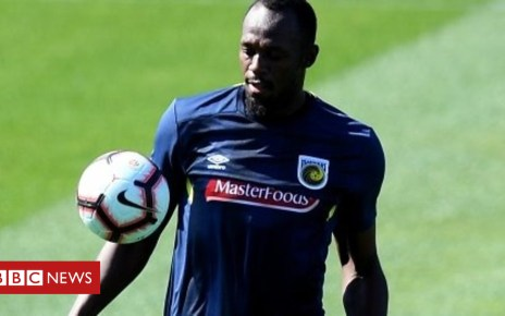 103115704 p06j2h20 - Usain Bolt 'out of comfort zone' as he trains to be a footballer