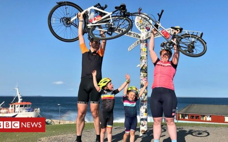 103291790 p06k7pyn - Four-year-old cycles from Land's End to John O'Groats
