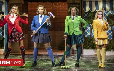 103396309  l r jodie steele  heather - Heathers the Musical: Carrie Hope Fletcher body-shamed over lead role