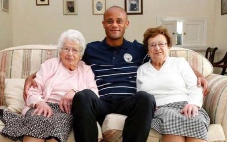 103444002 kompany - Man City fans aged 102 and 97 mascots against Fulham