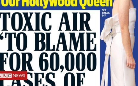 103486048 dm - Newspaper headlines: 'Russian model's terror' in Salisbury and dementia pollution link