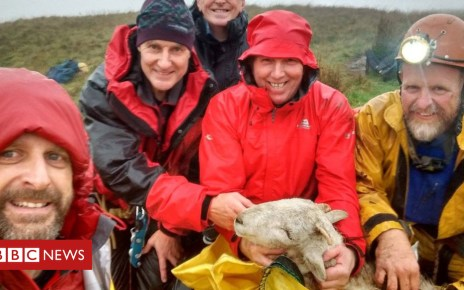 103508420 sheepcaverescue2 - Brecon Beacons sheep rescued by Thai cave team members