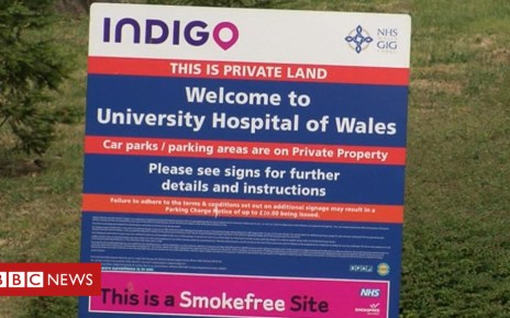 96988922 parkinguhw sign - All NHS hospital car parking charges scrapped in Wales