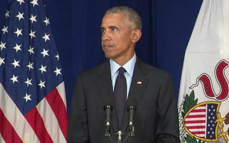 p06kllvx - Obama attacks 'crazy stuff' from Trump White House