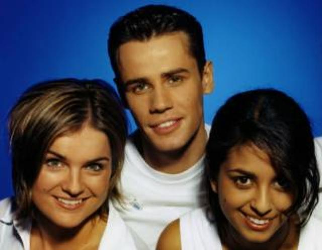 Presenters Katy Hill, Richard Bacon and Konnie Huq