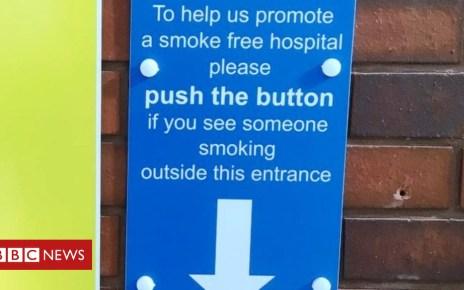103916032 tannoy1 final - Wakefield's Pinderfields Hospital smokers shamed via loudspeaker