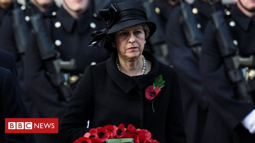 104236270 mayremembrance17 getty - World War One: Theresa May paying respects in France and Belgium