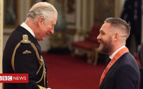 104372496 hardy2 pa - Tom Hardy made a CBE by Prince Charles