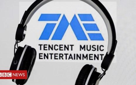 104597579 tencentmusiclogo - China's Tencent Music revives US stock market listing