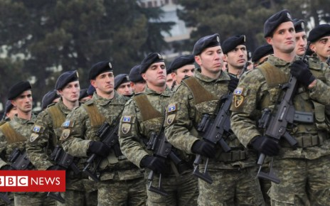 104764729 051169460 1 - Kosovo's army dreamers enrage their Serbian neighbours