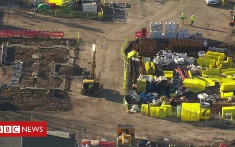 104769418 p06vgw6y - EastEnders: Aerial pictures of new set under construction