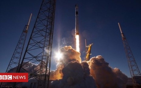 104935318 p06wgm9k - SpaceX launches military satellite after four attempts