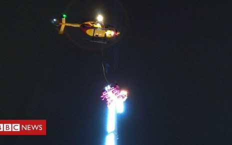 105021894 051394432 - French revellers spend New Year's Eve trapped on fair ride