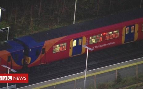 105067332 de04 - Suspect arrested over Surrey train stabbing