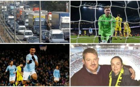 105125171 burton collage - Man City 9-0 Burton: Eight-hour journey for 15 mins of football - stories