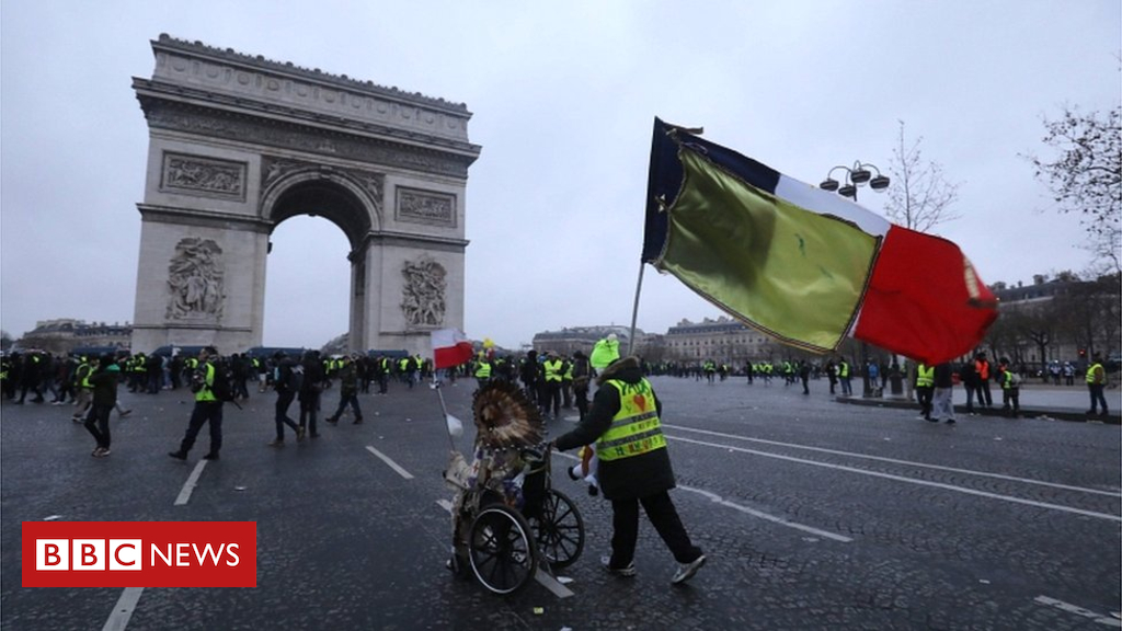 105163328 051589015 1 - Gilets Jaunes stage ninth round of protests in France