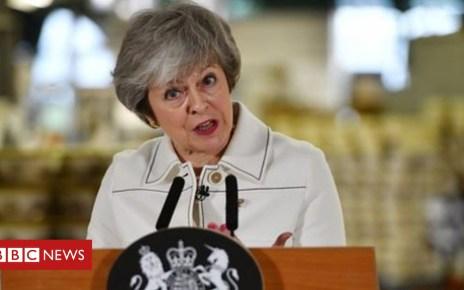 105180540 theresa - Theresa May Stoke-on-Trent speech: Arrests over stolen media pass