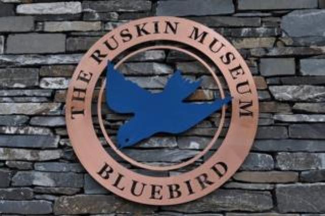 Ruskin Museum's Bluebird logo