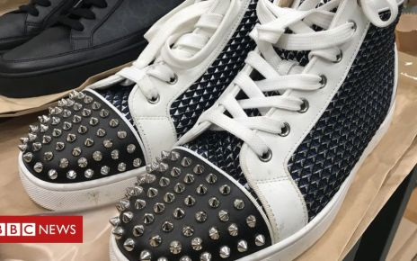 104698485 christianlouboutinhightops - Jailed gangster's designer trainers sold for £5K at auction
