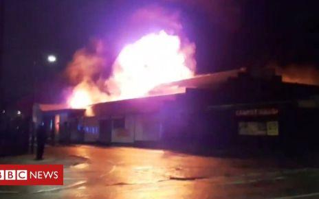 105560770 mediaitem105560769 - Fire rips through carpet warehouse in Old Trafford