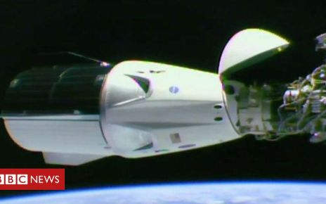 105873397 p072gv2k - SpaceX Dragon capsule docks with the ISS