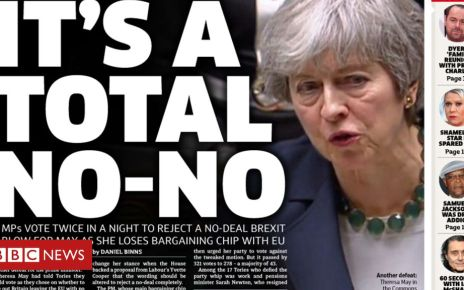 106014796 metrofrontpage14032019 2 - Newspaper headlines: A 'no-no' to no-deal and May's final warning