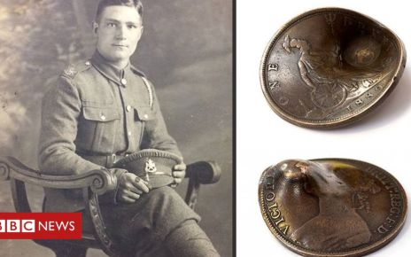 106026931 content banner - Penny that saved soldier's life to be sold