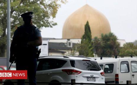106057088 mosque - Christchurch shootings: Australian homes raided over NZ mosque attacks