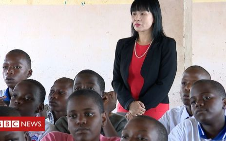 106126126 mrswangatlubirischool - The woman bringing Mandarin to Uganda