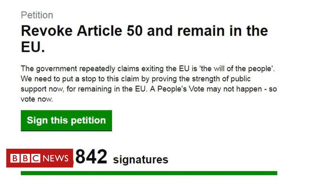 106147833 petition - 'Cancel Brexit' petition woman receives death threats