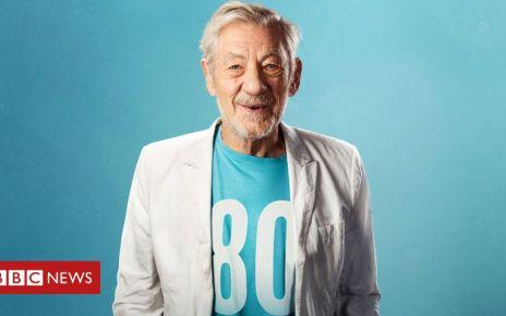 104249322 ian mckellen on stage - Sir Ian McKellen stages free show for 80 octogenarians
