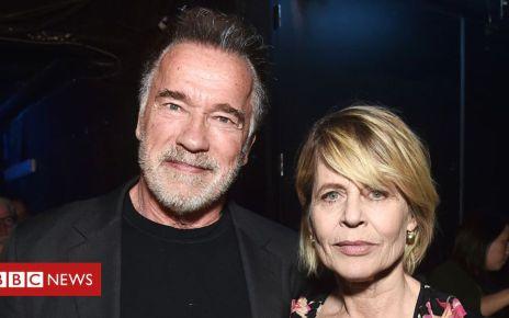106312830 terminator1 getty - Terminator: Schwarzenegger and Hamilton reunite at CinemaCon