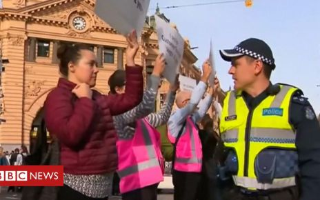106351501 de51 - Dozens of animal rights protesters arrested in Australia