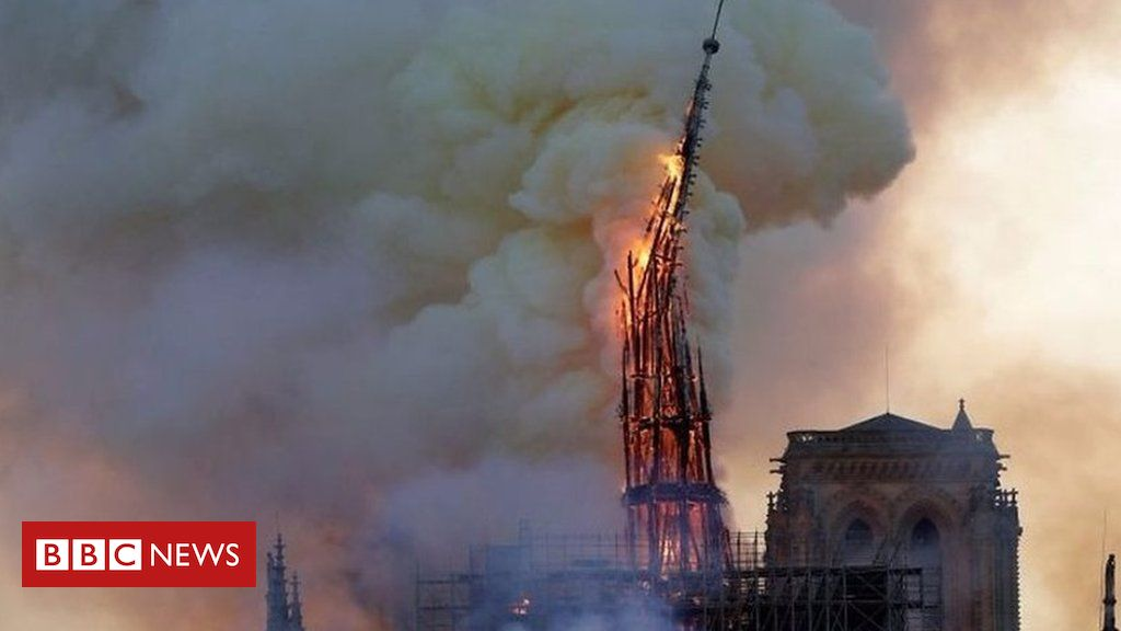 106464060 p076l244 - Notre-Dame's spire collapses due to fire