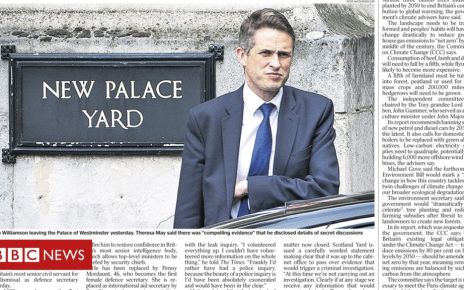 106760147 the times 02 05 19 pg 1 - Newspaper headlines: Gavin Williamson fired and fights back