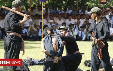 107029970 tv054085009 - Cambodia re-enacts Khmer Rouge killings - in pictures