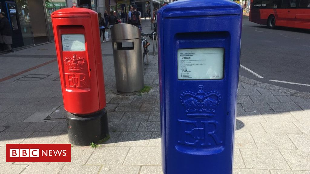 107053744 postbox3 - Why are post boxes being painted blue?