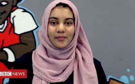 107148875 p07bm69d - Gym class where Muslim women can take of their hijabs