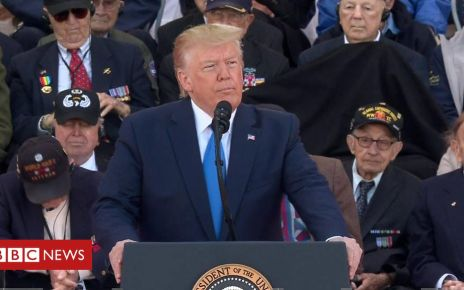 107256037 p07cd794 - Trump: 'Our debt to D-Day troops is everlasting'