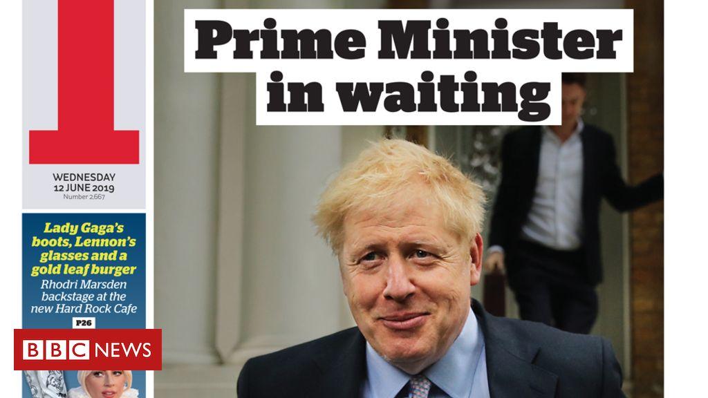 107341890 ifrontpage12june - Newspaper headlines: Boris Johnson to kick off leadership bid