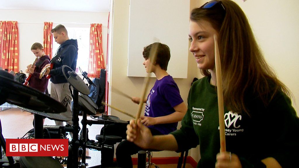 107349136 p07cx3ys - The Romsey young carers using rock music as respite