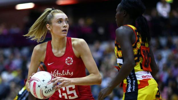 107853047 gettyimages 1066913940 - Netball World Cup 2019: England beat Uganda to secure opening victory