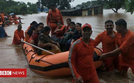 108084866 photo 2019 07 27 13 37 45 - India floods: Hundreds of train passengers stranded near Mumbai