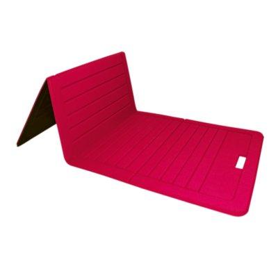 tapis de gym pliable 140 cm rouge